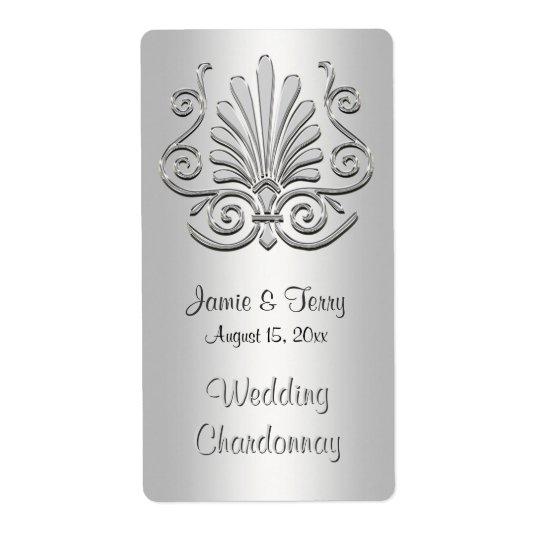 Etiqueta branca de prata 2 do vinho do partido do etiqueta de frete