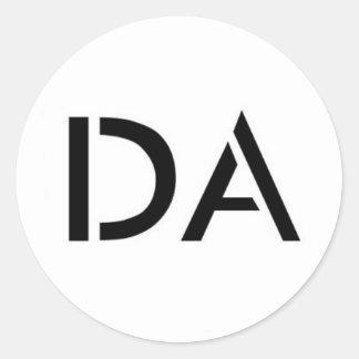 Etiqueta branca do logotipo da Dinamarca