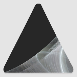 Etiqueta branca & preta de BackgroundTriangle do Adesivo Triângulo