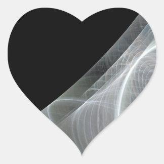 Etiqueta branca & preta do coração do fundo do adesivo coração