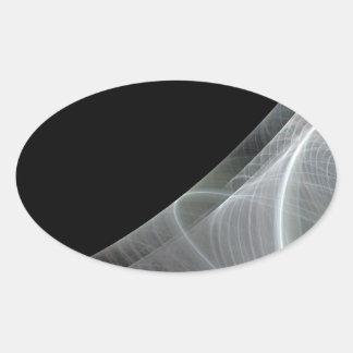 Etiqueta branca & preta do Oval do fundo do Adesivos Em Formato Oval