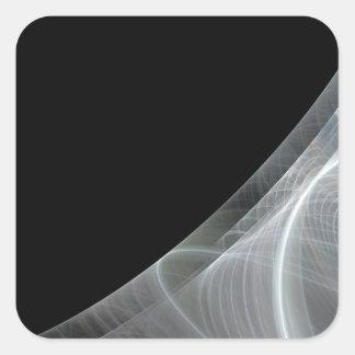 Etiqueta branca & preta do quadrado do fundo do adesivo quadrado