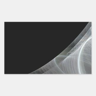 Etiqueta branca & preta do retângulo do fundo do adesivo retangular