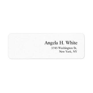 Etiqueta Branco profissional moderno minimalista elegante