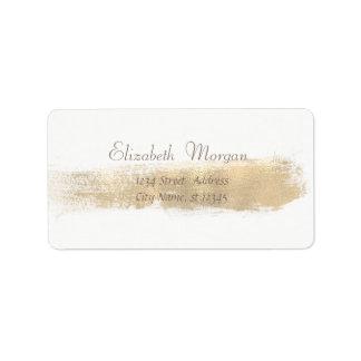 Etiqueta Branco simples chique elegante, curso da escova do