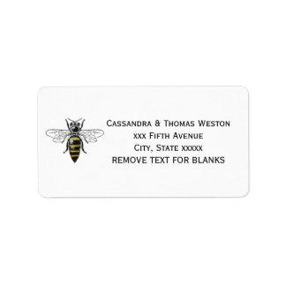Etiqueta Brasão heráldica formal C da abelha #2 do vintage