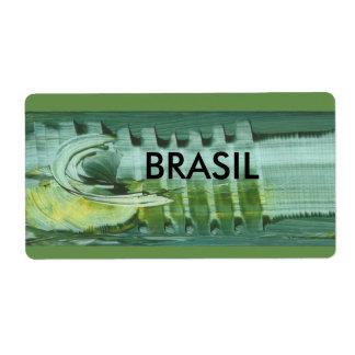 etiqueta brasileira arte moderna em 3D ADESIVOS Etiqueta De Frete