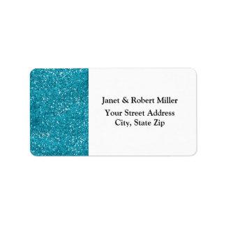 Etiqueta Brilho à moda do azul de turquesa