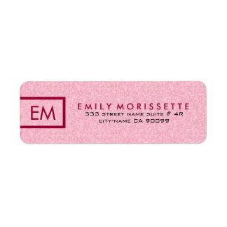 Etiqueta Brilho e vermelho cor-de-rosa lisos modernos