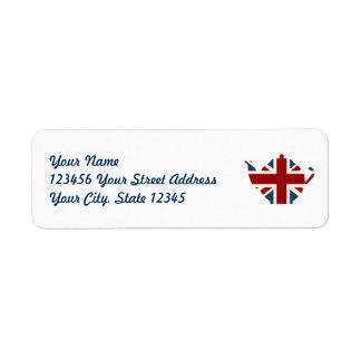 Etiqueta Bule de Union Jack Ingleses
