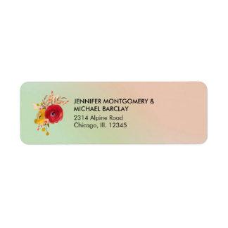 Etiqueta Buquê floral bonito da aguarela