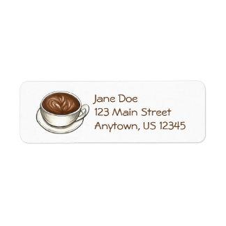 Etiqueta Cafeína do café da chávena de café de Seattle WA