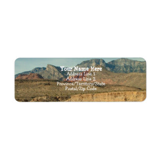 Etiqueta Camadas de rocha vermelha
