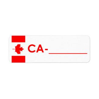 """Etiqueta Canadá da """"estilo da identificação de Pos"""