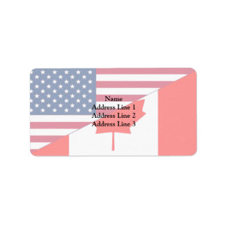 Etiqueta Canadá e EUA, híbrido