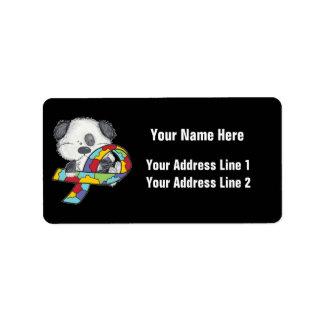 Etiqueta Cão da consciência do autismo