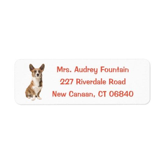 Etiqueta Cão de filhote de cachorro do Corgi de Galês do