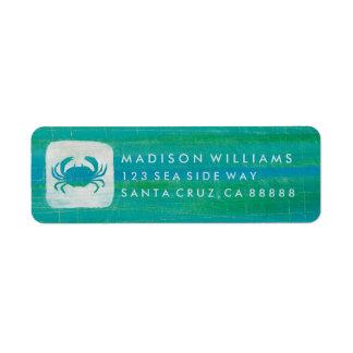 Etiqueta Caranguejo litoral do Aqua de |