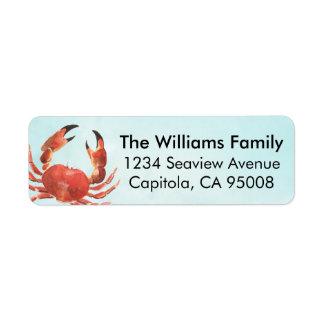 Etiqueta Caranguejo litoral personalizado