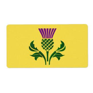 Etiqueta Cardo escocês do emblema