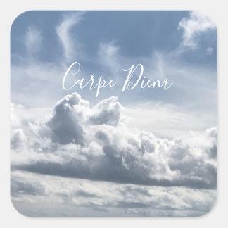 Etiqueta Carpe Diem, foto bonita das nuvens