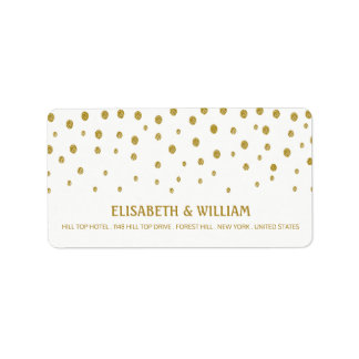 Etiqueta Casamento das bolinhas do ouro