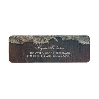 Etiqueta Casamento de madeira do celeiro do país de