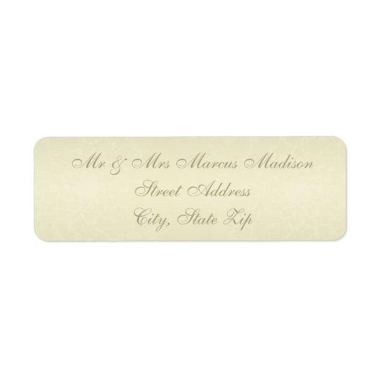 Etiqueta Casamento do monograma do ouro