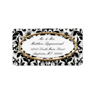 Etiqueta Casamento dourado afligido envelhecido do olhar de