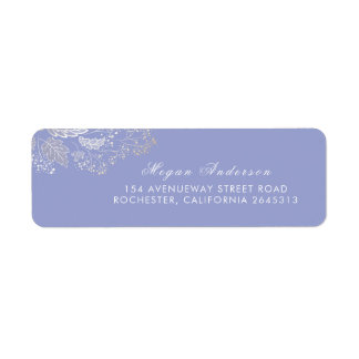 Etiqueta Casamento elegante roxo da folha da lavanda