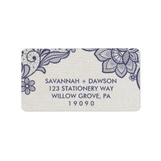 Etiqueta Casamento floral do laço | de serapilheira e de