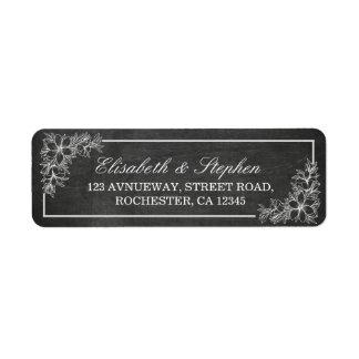 Etiqueta Casamento floral do quadro do quadro branco preto