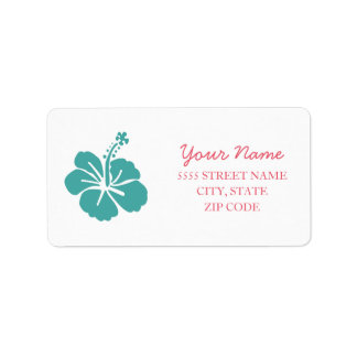Etiqueta Casamento havaiano do hibiscus