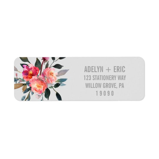Etiqueta Casamento moderno da flor do inverno das cinzas |
