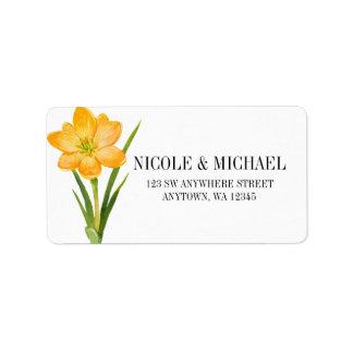 Etiqueta Casamento na moda do daffodil do açafrão do