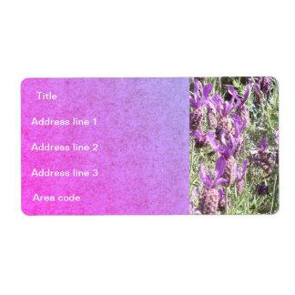Etiqueta Casamento personalizado flores da lavanda francesa