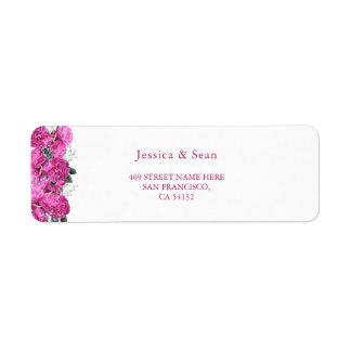 Etiqueta Casamento romântico do buquê floral