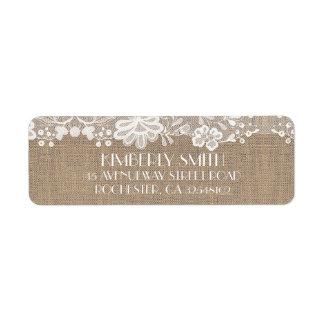Etiqueta Casamento vintage elegante do laço e da
