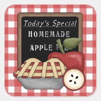 Etiqueta caseiro do divertimento da torta de maçã