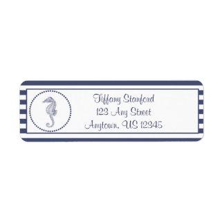 Etiqueta Cavalo marinho náutico | personalizado