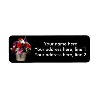 Etiqueta Cesta das flores