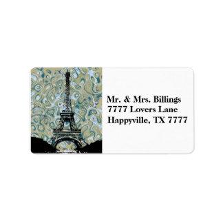 Etiqueta Céu de Marlble da torre Eiffel de Paris