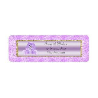 Etiqueta Chá de fraldas bonito do coelho do Lilac