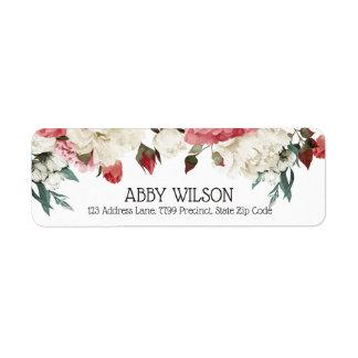 Etiqueta Chá de panela Wedding floral de florescência do