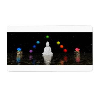 Etiqueta chakras e buddha