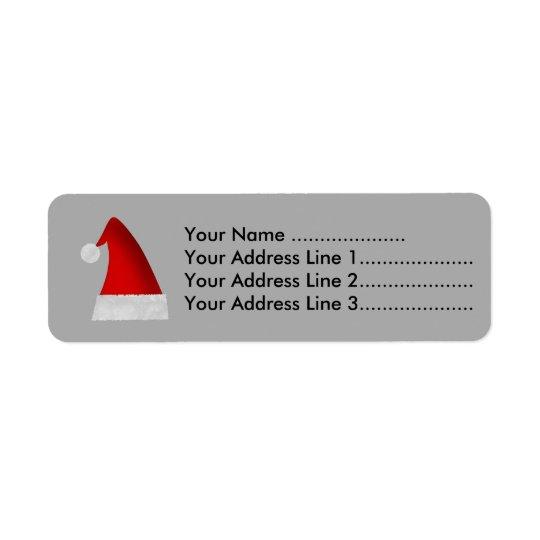 Etiqueta Chapéu vermelho do Natal do papai noel