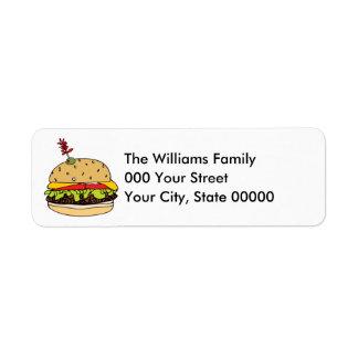 Etiqueta Cheeseburger de luxe