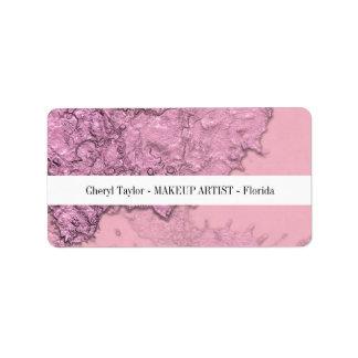 Etiqueta Chique cor-de-rosa abstrato Textured moderno