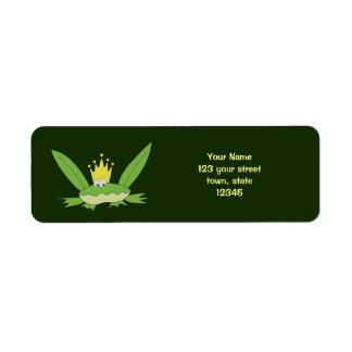 Etiqueta Chique verde do príncipe Engraçado Desenhos