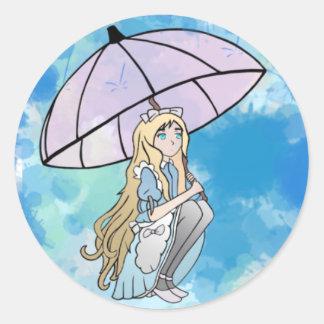 Etiqueta chuvosa do respingo
